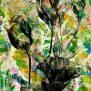 Fotoemulsion mit farblicher Hintergrund-Gestaltung nach Kundenvorstellung, 100x140cm