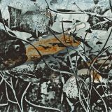 Geäzte Metallplatte, 100 x 50 cm